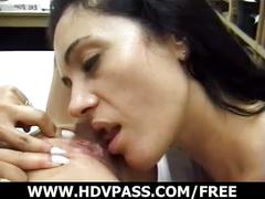 Sinful lesbian licks each other