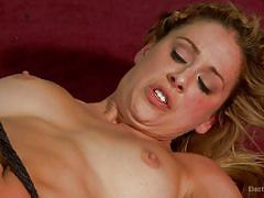 Strap on in the ass for blonde milf