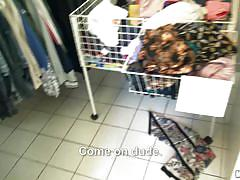 Teen fucked in the clothes store