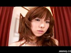 Japanese teen solo play with toys