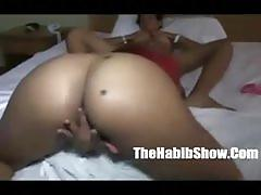 Two sexy dominican lesbians fase off