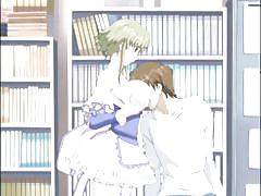 Slutty librarian humps student in school