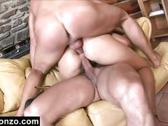 Marketa ben gets double cock treament in her holes
