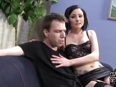 Veruca james gets her asshole banged in front of her...