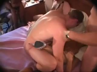 Black and white motherfuckers gangbang two cuckold wives