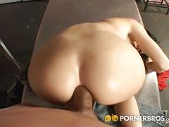 Nasty brunette anal pov fuck