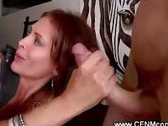 Cougar moms giving blowjobs