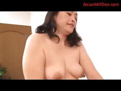Milf giving blowjob for guy riding on his cock on...