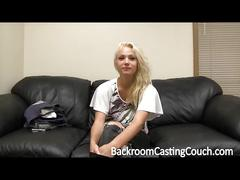 Backroom casting - nice blonde teen do anal