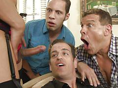 handjob, foursome, masturbation, stockings, group sex, gay sex, shemale blowjob, brunette shemale, devils film, fame digital, jay huntington, wolf hudson, chad diamond, jessica fox