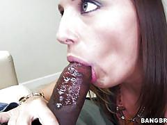 Blue eyes whore swallows my bbc