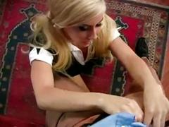 Blonde school girl gets it from her teacher