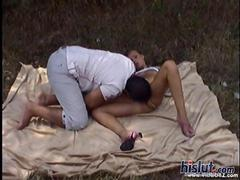 This slut loves outdoor sex