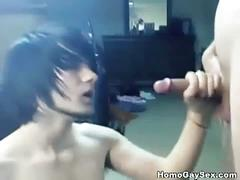 Twinky emo sensations cum shower on cam