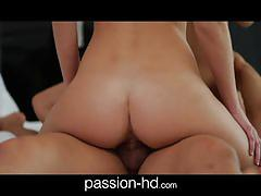 Passion-hd natural threesome