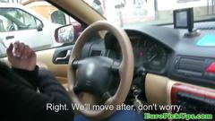 Perv throws cash at a female taxi driver