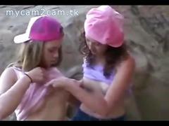 Cute lesbian teens have sex