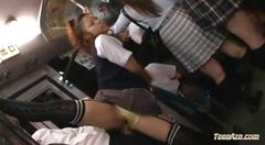 Hot asian schoolgirl fucked on the bus