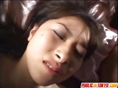 Japanese milfs and gal are in orgy