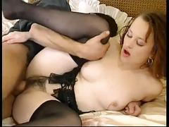Milf hairy pussy enjoying cum by troc