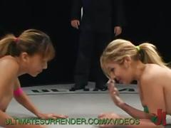 girl-on-girl, lesbian, wrestling, dildo, strap-on, fighting, domination, submission, choke