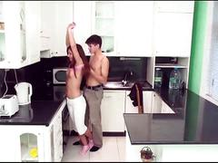 Kitchen pounding with naughty teen cuties