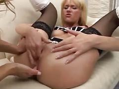 German blond anal fisting