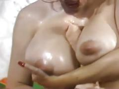 Nylon boobs - jerk off encouragement - joe