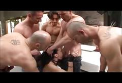 Aliz gets a rough gangbang(double: oral,anal)