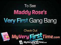 4k myveryfirsttime - pornstar maddy rose tries her first gangbang