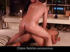 Hot blonde and brunette gives guy great oral satisfaction