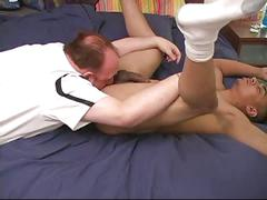 Daddy eats russ' ass and hard cock