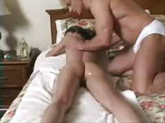 Teen become a massage and a hot fuck