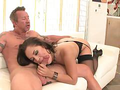 Kristina rose got her hairy snatch humped on