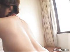 Horny hitomi nakagawa riding cock!