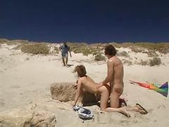 4some group sex on the beach by troc
