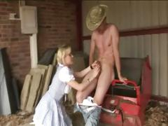 Sexy cfnm farm girls get off