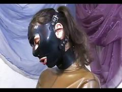 Wild domina playing with sex toys