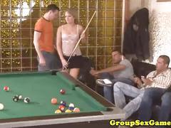 European bukkake sexgaming with hot bitch