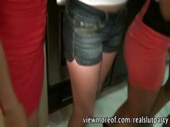 Crazy horny party with hot girls