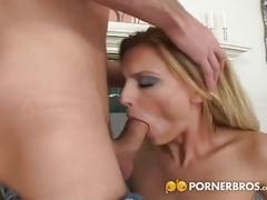 Hot blonde milf loves anal sex