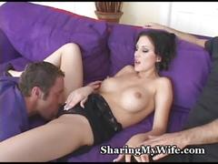 Sissy hubby watches hot wife
