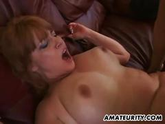Amateur milf rammed hard in her cunt