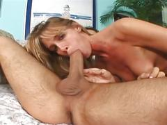 Pussy playing mom rides thick cock down wet ass