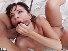 Cock gagging brunette slut dana dearmond