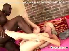 Interracial blonde fuck