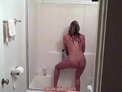 Dancing naked in the shower