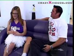 Cheerleader fucks coach
