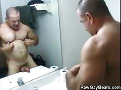 Buff bear police man mickey squires jerking off