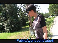 Publicagent short haired brunette backseat fucker